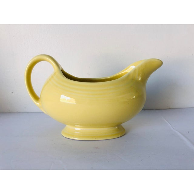Vintage Fiesta Ware Yellow Gravy Boat Old Mark For Sale In New York - Image 6 of 6