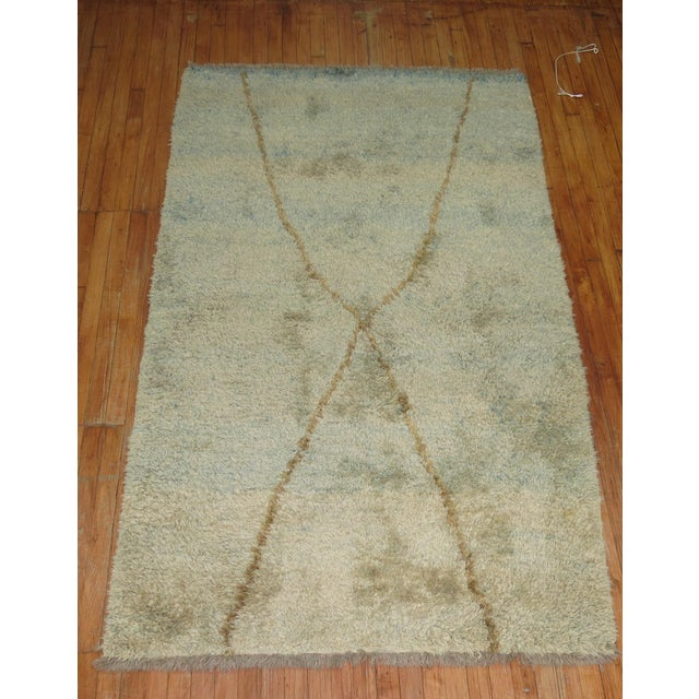Turkish Tulu Shag Rug -- 4'6'' x 7'4'' - Image 3 of 6