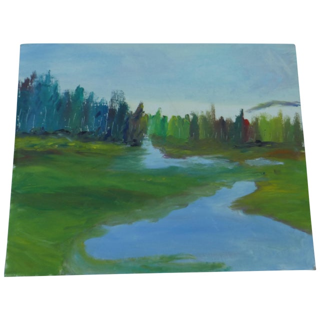 H.L. Musgrave Mid-Century River Painting - Image 1 of 6