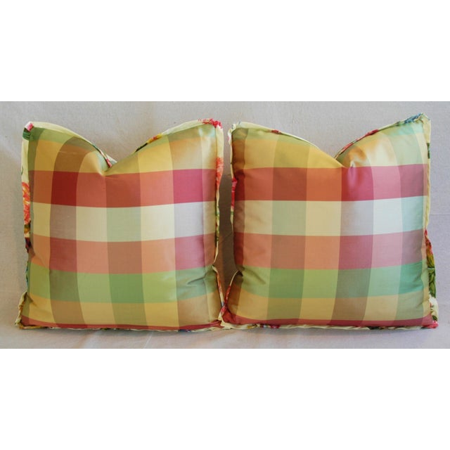Brunschwig & Fils Coligny Spring Floral Pillows - a Pair - Image 4 of 10