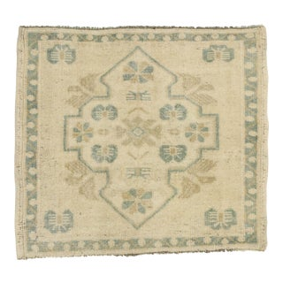 Vintage Turkish Oushak Yastik Scatter Rug, Small Square Rug - 01'11 X 02'01 For Sale