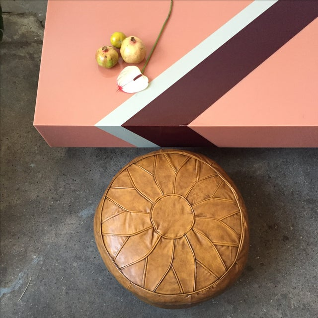 Vintage Pink Mica & Lucite Cocktail Table - Image 6 of 10