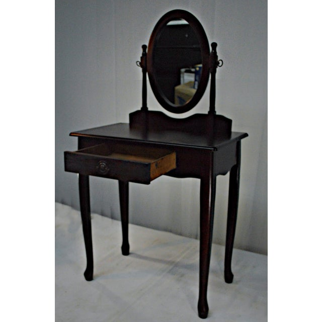 1980s Cuban Mahogany Vanity For Sale - Image 5 of 10