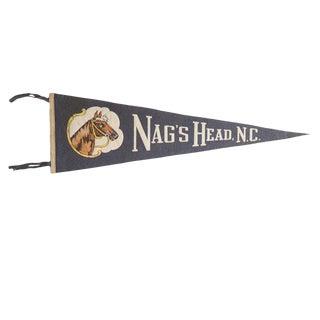 Vintage Nag's Head, n.c. Felt Flag Pennant For Sale