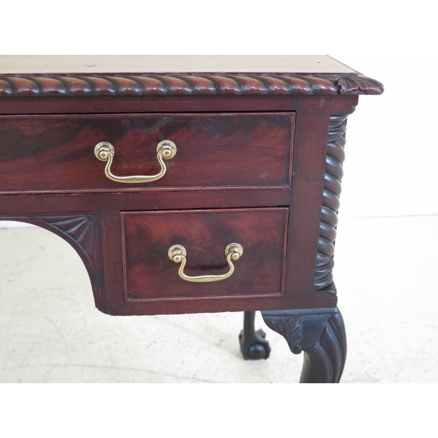 Chippendale Style Traditional Ball & Claw Mahogany Desk or Vanity - Image 3 of 13