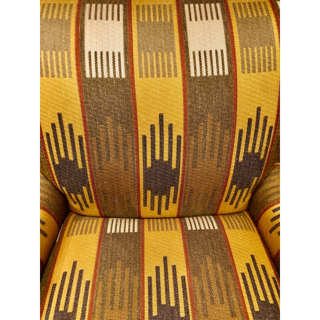 2000 - 2009 Ralph Lauren Blue Label English Roll Arm Chair in a Southwestern Themed Upholstery For Sale - Image 5 of 7
