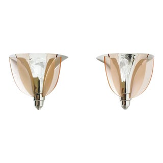 French Art Deco Sconces By Petitot - a Pair