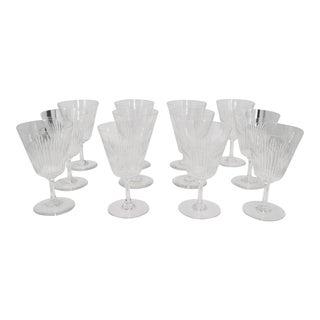 Set of Twelve Baccarat Wine/Water Glasses For Sale