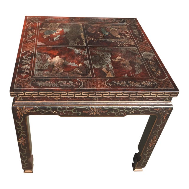 Baker Furniture Chinoiserie Side Table - Image 1 of 8