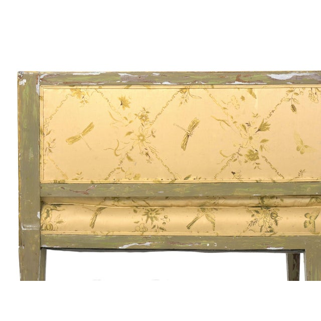 Italian Neoclassical Gray Polychrome Painted Settee Sofa Canape, Early 19th Century For Sale - Image 9 of 13