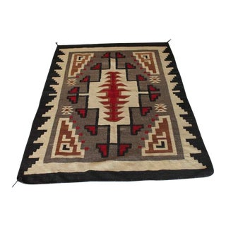 Early Navajo Indian Weaving In Vibrant Geometric Patterns