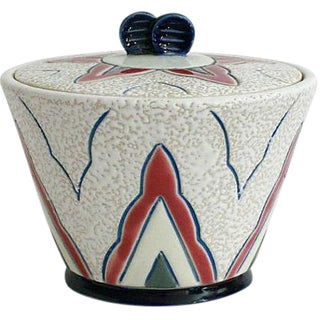 Art Deco Amphora Czech Pottery Box
