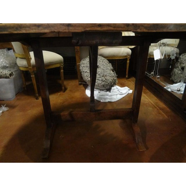 19th Century French Walnut Wine Tasting Table From Burgundy For Sale - Image 10 of 13