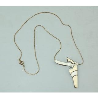 Artisan Modernist Sterling Silver Gun Pendant Necklace Preview