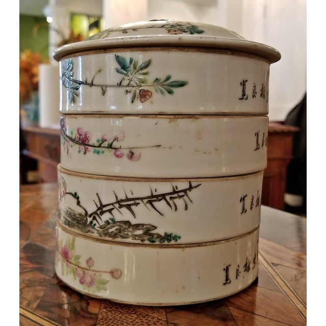 Presenting a gorgeous Chinese piece from circa 1860 … the Reign of Emperor Tongzhi. This consists of 4 stackable bowls...