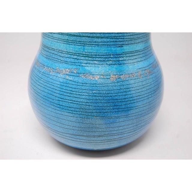 Large Multicolored Enamel Over Copper Vase For Sale - Image 4 of 6