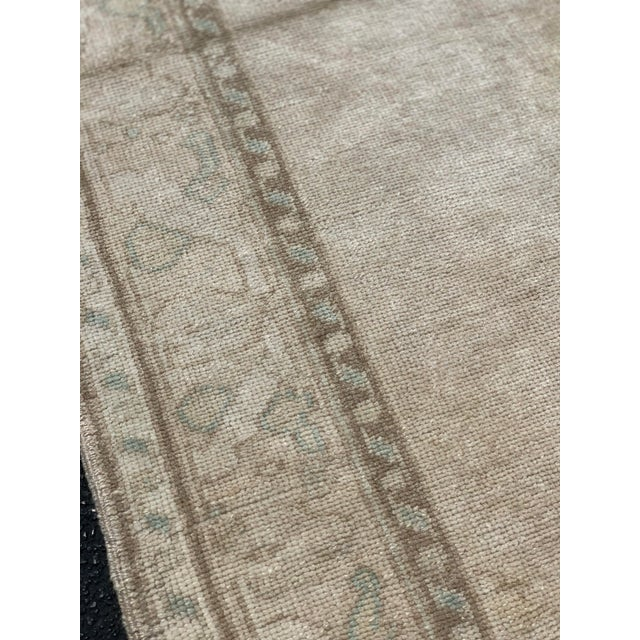 "Textile 1950's Vintage Turkish Oushak Wide Runner Rug - 5'2"" x 8'4"" For Sale - Image 7 of 13"