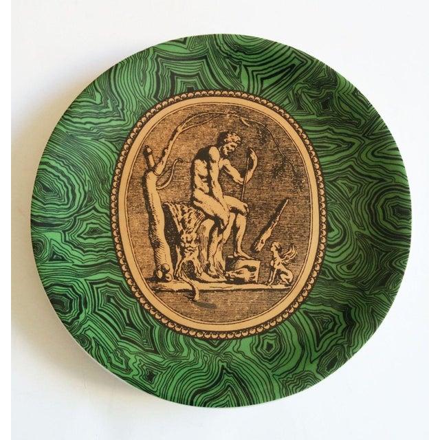 Vintage Piero Fornasetti Malachite Plates - Pair - Image 3 of 5