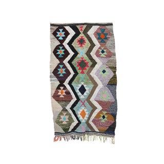 1980s Boucherouite Moroccan Kilim Rug - 4′8″ × 7′11″ For Sale
