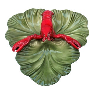 1950's Vintage Brad Keeler Lobster Section Dish For Sale