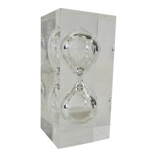 Sands of Time Lucite Hourglass For Sale