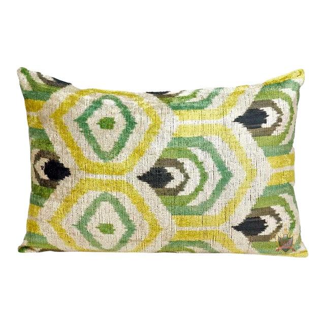 Clarendon Silk Velvet Designer Lumbar Pillow For Sale
