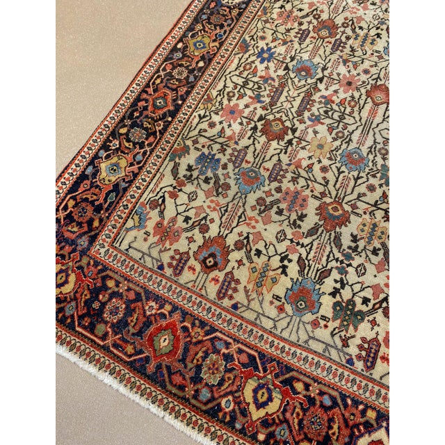 "Classic Antique Persian Sarouk Rug, 4'4"" X 6'5"" For Sale - Image 4 of 11"