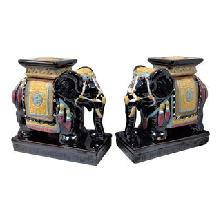 Artasia Inc. Ceramic Elephant Book Ends - a Pair