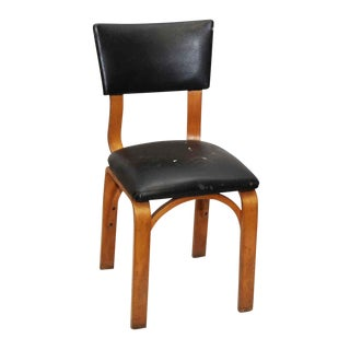 Light Wood & Black Thonet Chair For Sale