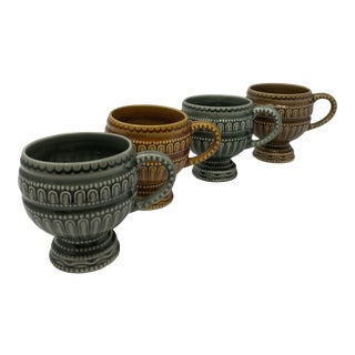 Portuguese Secla Coffee Mugs - Set of 4 For Sale