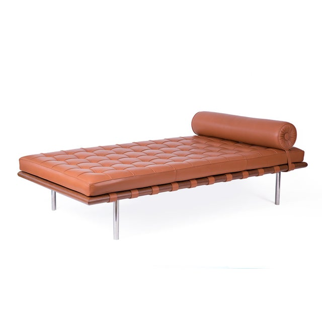 Mies van der Rohe for Knoll Barcelona daybed, circa late 1980s. This all original example is in phenomenal condition with...