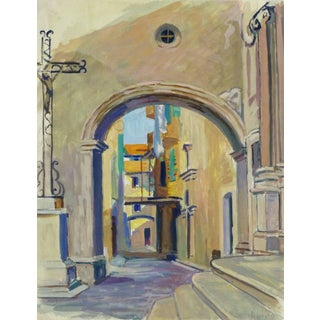 French Landscape - Old City Streets For Sale