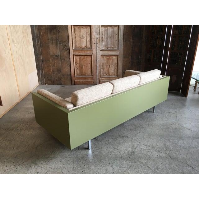 Milo Baughman for Thayer Coggin Green Leather Sofa