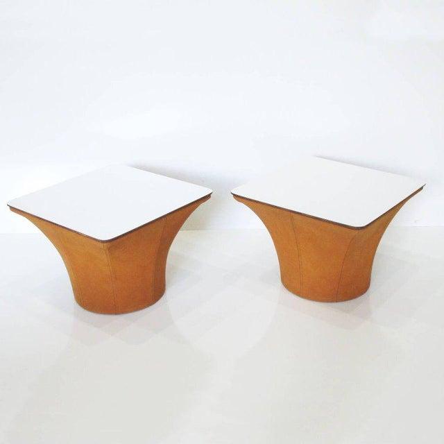 Pierre Paulin Style Mid-Century Modern Mushroom Side Tables - a Pair For Sale In Atlanta - Image 6 of 11