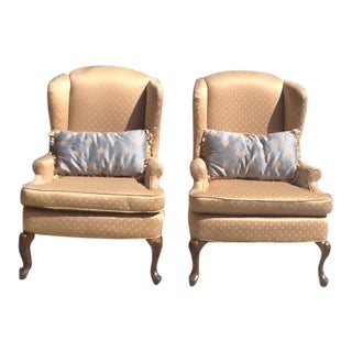 Vintage Wingback Chairs - A Pair For Sale