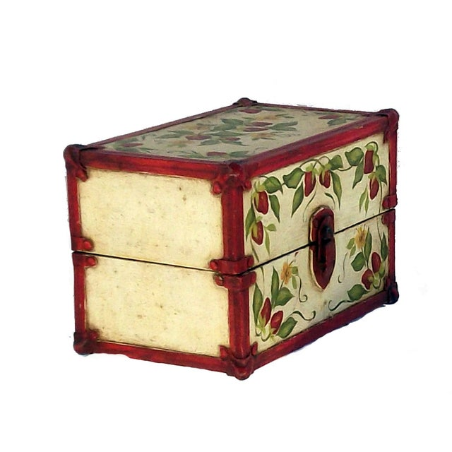 Vintage Hand Painted Doll Trunk - Image 2 of 4