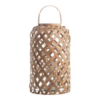 Saro Flatcore Rattan Lantern - 24 In For Sale