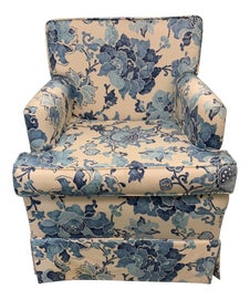 Image of Blue Club Chairs