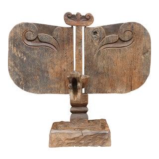 African Wooden Carved Altar Sculpture For Sale