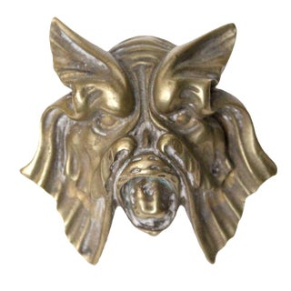 Brass Sea Monster Door Knob For Sale
