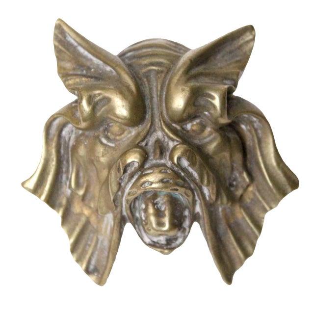 Brass Sea Monster Door Knob For Sale