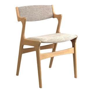 Vintage Danish Oak Dining Chair For Sale