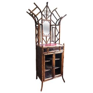 Victorian Bamboo & Japanned Lacquer Cabinet For Sale