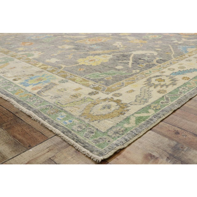 Contemporary Turkish Oushak Rug - 09'09 X 13'07 For Sale In Dallas - Image 6 of 10