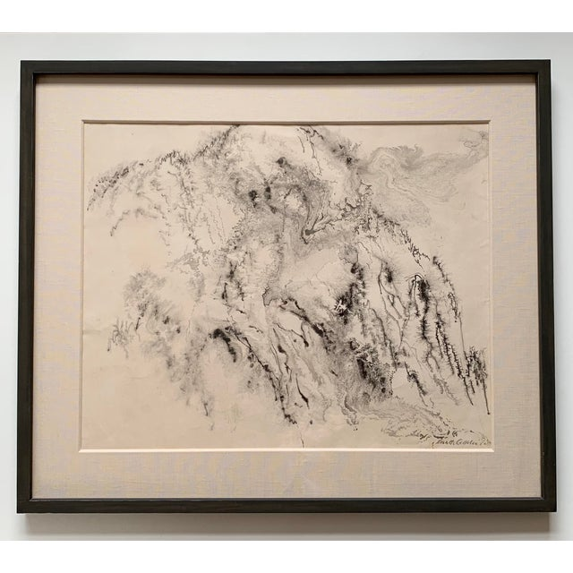 1950s Kenneth Callahan Ink on Paper Painting Northwest Mystic For Sale In Seattle - Image 6 of 6
