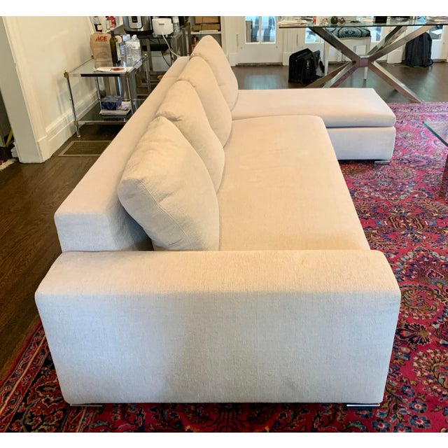 Metal Italian Minotti Sectional Sofa With Chaise For Sale - Image 7 of 12