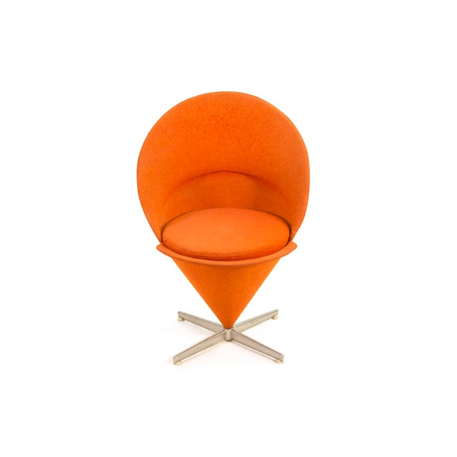 """This is an original, first series """"Cone Chair"""" by Verner Panton. Very rare early example. I found this in Scandinavia and..."""