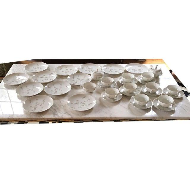 Porcelain Schonwald Dandelion Tea Cups Set - Set of 32 For Sale - Image 11 of 11