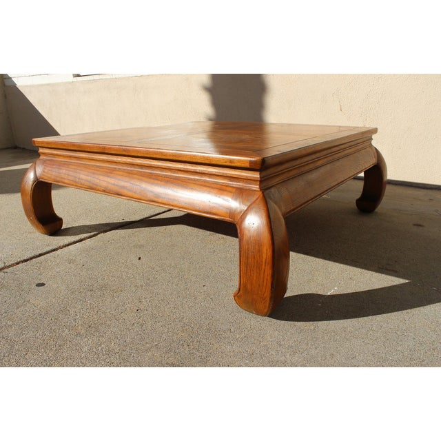 This beautiful tiger oak piece is made in the timeless Hollywood Regency style (or Asian Ming), with a classic rectangular...