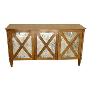 Niermann Weeks Cherry and Mirror Console For Sale